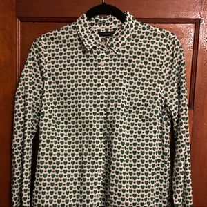 Bee/heart pattern button up